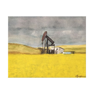 ALBERTA PRAIRIE - watercolor, wrapped canvas print