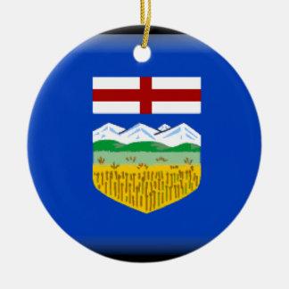 Alberta Round Ceramic Ornament