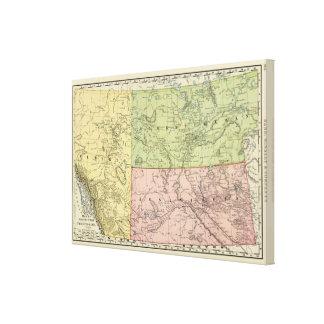 Alberta, Saskatchewan Stretched Canvas Print