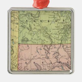 Alberta, Saskatchewan Silver-Colored Square Ornament