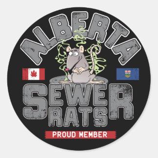 Alberta Sewer Rats Round Sticker