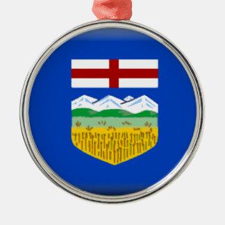 Alberta Silver-Colored Round Ornament