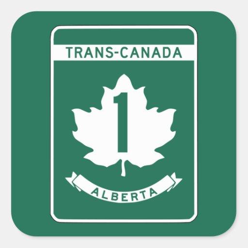 Alberta, Trans-Canada Highway Sign Sticker