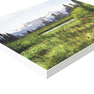 ALBERTA , - watercolor, wrapped canvas print