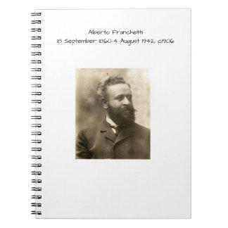 Alberto Franchetti c1906 Spiral Notebook