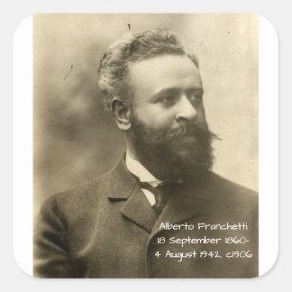 Alberto Franchetti c1906 Square Sticker