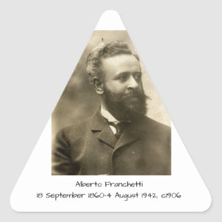 Alberto Franchetti c1906 Triangle Sticker