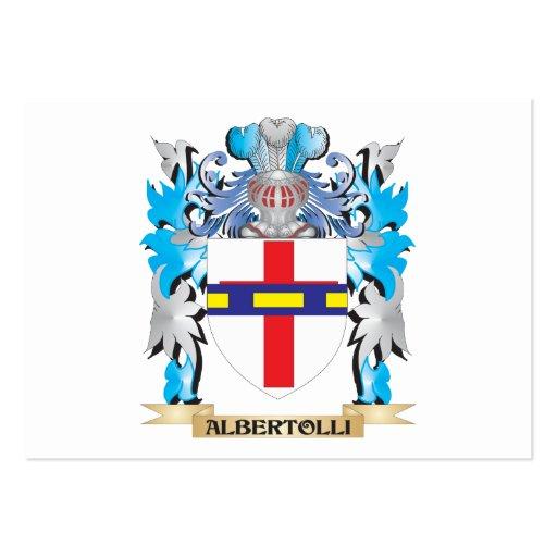 Albertolli Coat Of Arms Business Card Template