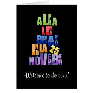 Albin 25 Phonetic Alphabet Card