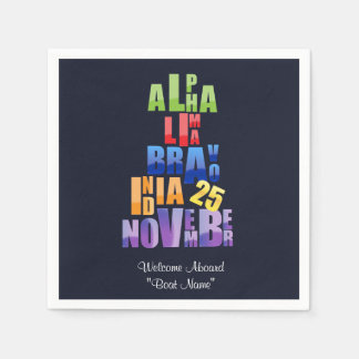Albin 25 Phonetic Alphabet Napkin