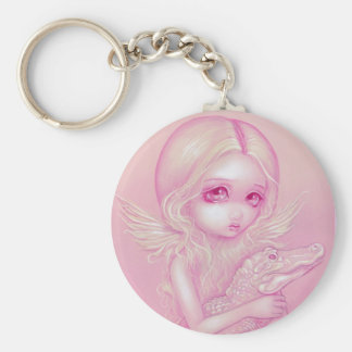 """Albino Alligator Angel"" Keychain"
