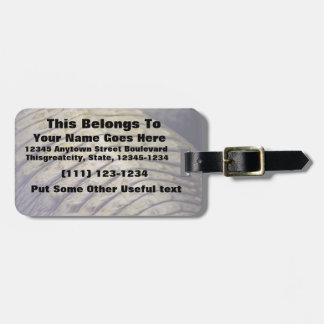 albino alligator back scales luggage tag