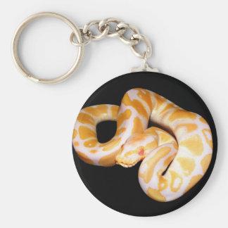 Albino Ball Python Basic Round Button Keychain