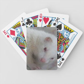 Albino Ferret Picture Bicycle Playing Cards