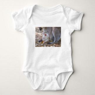 Albino joey in the pocket baby bodysuit