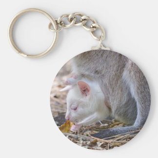 Albino joey in the pocket basic round button keychain