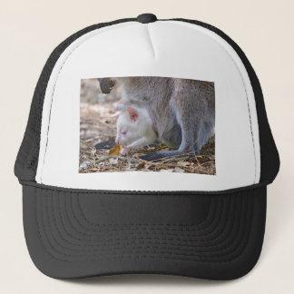 Albino joey in the pocket trucker hat