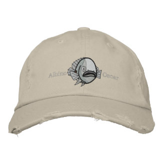 Albino Oscar Fish - Customized Embroidered Hats