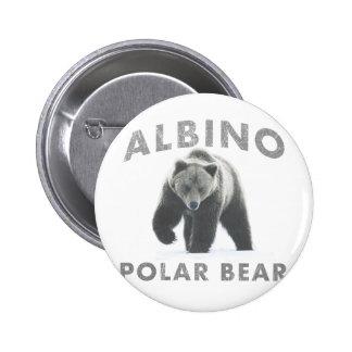 albino polar bear 2 inch round button