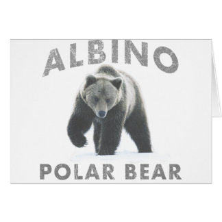 albino polar bear card