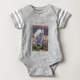 Albino Red-necked wallaby Baby Bodysuit