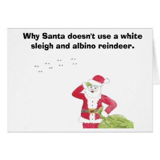 Albino Reindeer Christmas Card