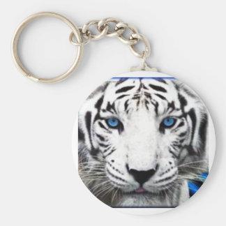 Albino tiger keychain
