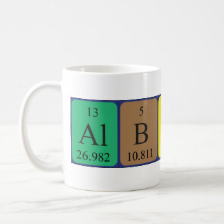 Albion periodic table name mug