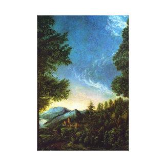 Albrecht Altdorfer Danube landscape Regensburg Canvas Print