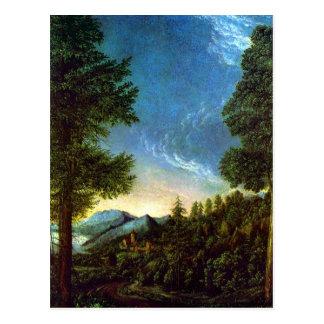 Albrecht Altdorfer Danube landscape Regensburg Postcard