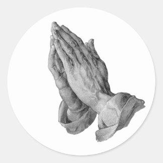 Albrecht Durer - Hands Praying Classic Round Sticker