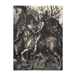 Albrecht Dürer Knight, Death and the Devil Canvas Print