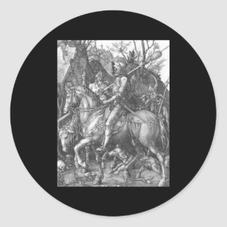 Albrecht Durer Knight Death and the Devil Round Sticker
