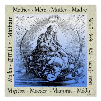 Albrecht Dürer Mother & Child on Crescent Moon Poster