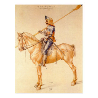 Albrecht Durer - Rider in the armor Postcard