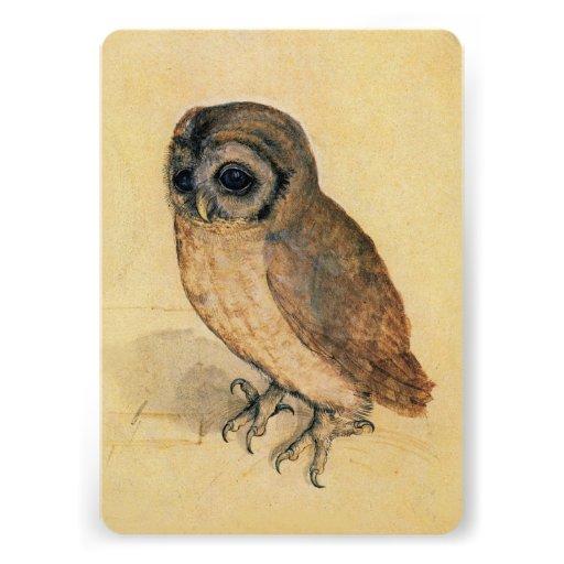 Albrecht Durer The Little Owl Custom Announcement