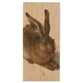 ALBRECHT DÜRER - Young hare 1502 Wood USB Flash Drive