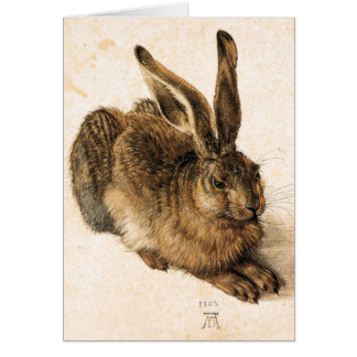 Albrecht Durer Young Hare Greeting Card
