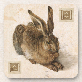 Albrecht Durer Young Hare Painting Coaster