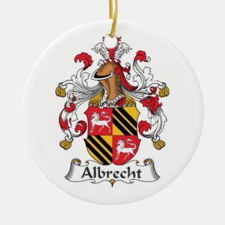 Albrecht Family Crest Ceramic Ornament
