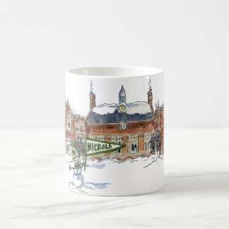 albright winter snowman coffee mug