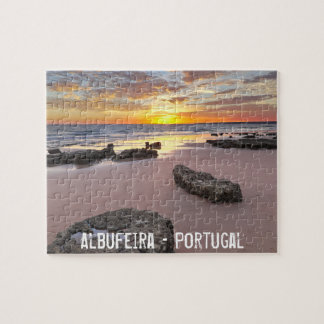 Albufeira - Portugal. Summer vacations in Algarve Jigsaw Puzzle