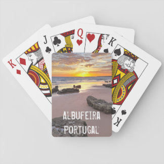 Albufeira - Portugal. Summer vacations in Algarve Playing Cards