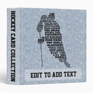 Album de carte de collection de joueur de hockey, classeur vinyle