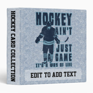 Album de carte de mode de vie d'hockey, personnali classeurs