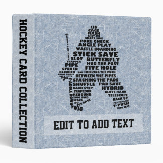 Album de carte de typographie de gardien de but d' classeurs 3 anneaux