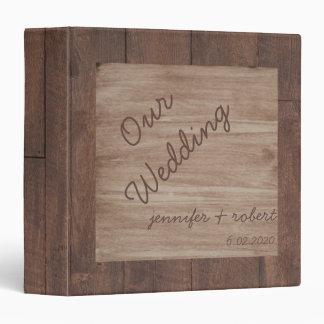Album de mariage campagnard en bois et de bouleau classeurs vinyle