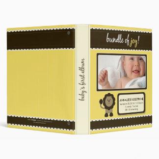 Album fait sur commande de bébé Paquet jaune de