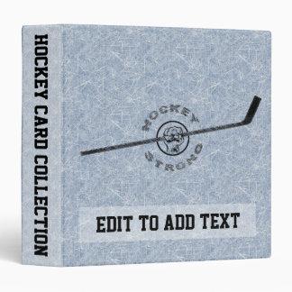 Album fort de carte de collection d'hockey, classeurs 3 anneaux