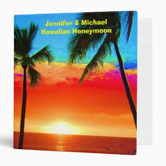Album photos hawaïen de lune de miel classeurs 3 anneaux